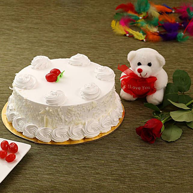 Vanilla Cake Combo Send Cakes To Canada