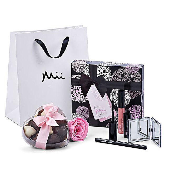 Mii Luxurious Make Up Set with Godiva And Rose: Chocolates to Germany