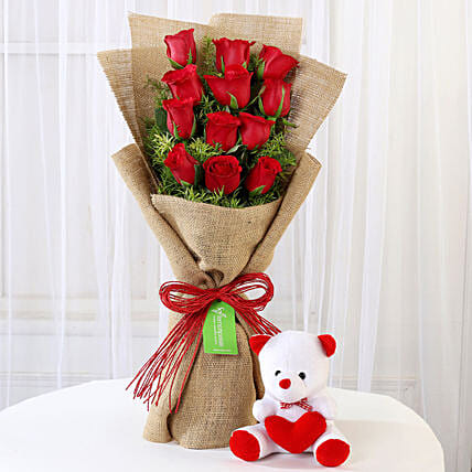 Send Valentine Soft Toys And Flowers Online From Ferns N Petals