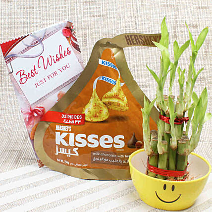 2 Layer Lucky Bamboo & Hershey's Kisses: Send Spiritual Gifts