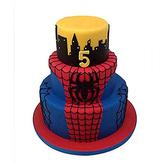 3 Tier Spiderman Cake: Multi Tier Cakes