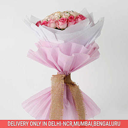 36 Graceful Pink Roses Bouquet: