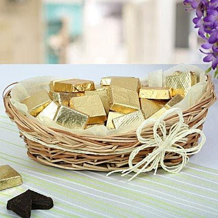 A Basket Of Golden Treat: Gift Baskets