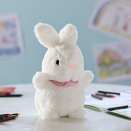 Adorable Hanging Bunny Soft Toy: Send Soft Toys