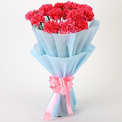 Adorable Pink Carnations Bouquet Hyderabad Gifts