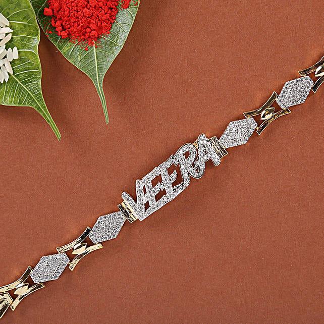 American Diamond Veera Bracelet Rakhi: