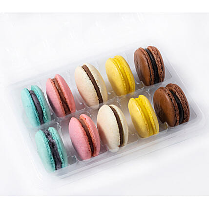 Assorted Box Macaroons- 10 Pcs: Macarons