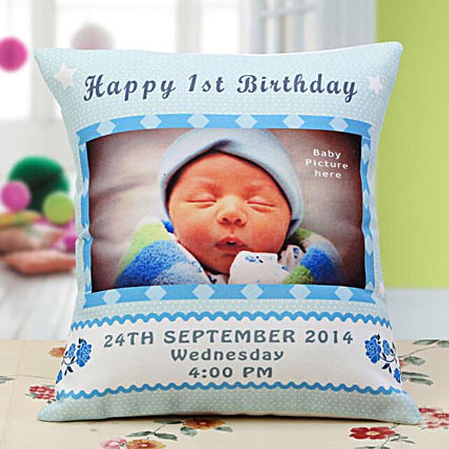 Baby Announcement Personalized Cushion: Custom Photo Coffee Mugs