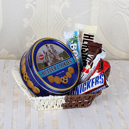 Basket Of Chocolates & Cookies: Gift Hampers