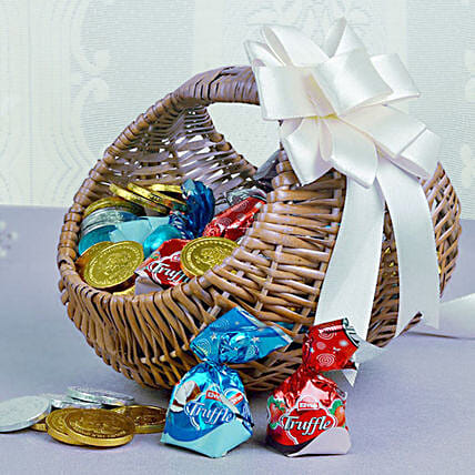 Basket Of Chocolaty Treats: House Warming Gift Hampers
