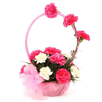 Beautiful In Pink: Flower Basket