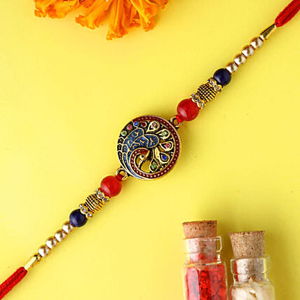 Beautiful Peacock Rakhi: Ethnic Rakhi