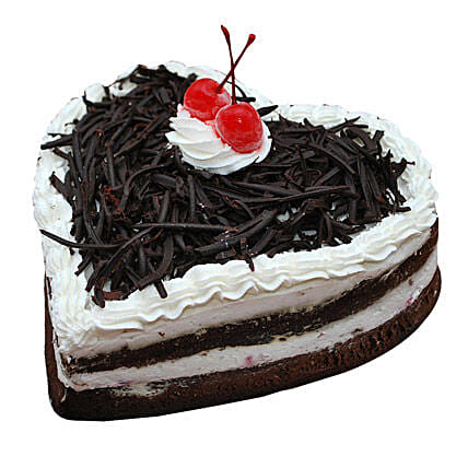 Black Forest Heart Cake: Heart Shaped Cakes