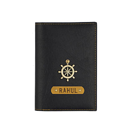 Black Personalised Passport Cover: Accessories
