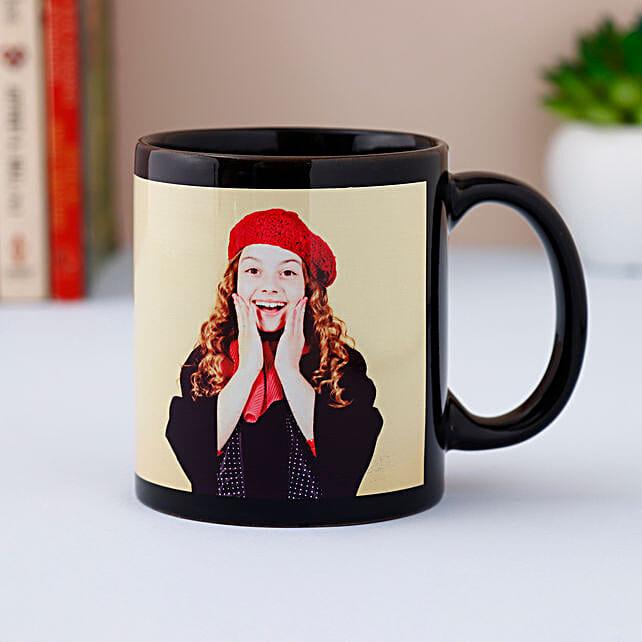 Black Photo Mug Personalized: Personalised Mugs