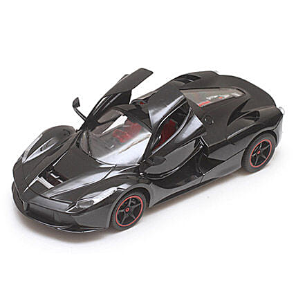 Black Rechargeable Toy Ferrari: Toys and Games