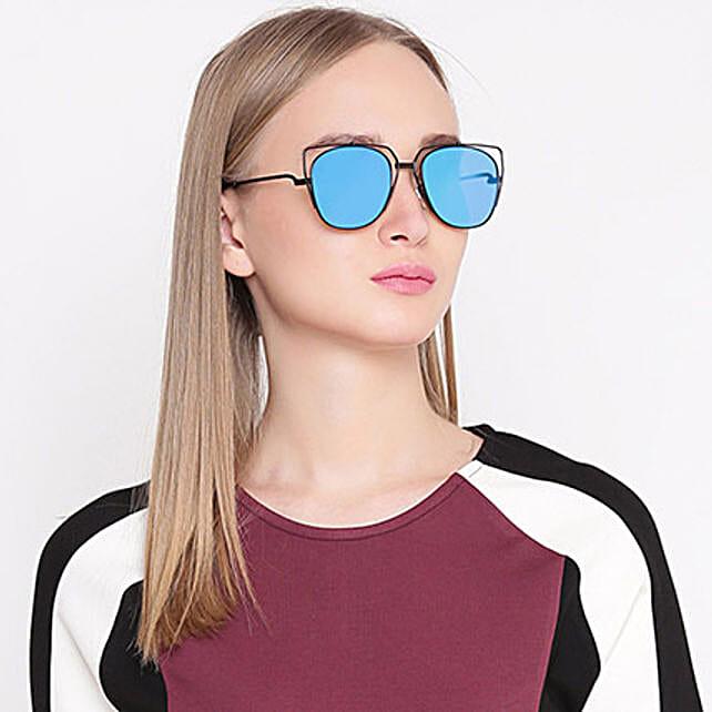 Blue Cat Eye Unisex Sunglasses: Sunglasses Gifts