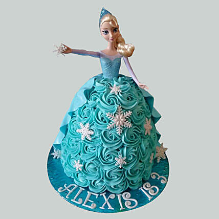 Blue Roses Barbie Cake: Gifts for Daughters Day