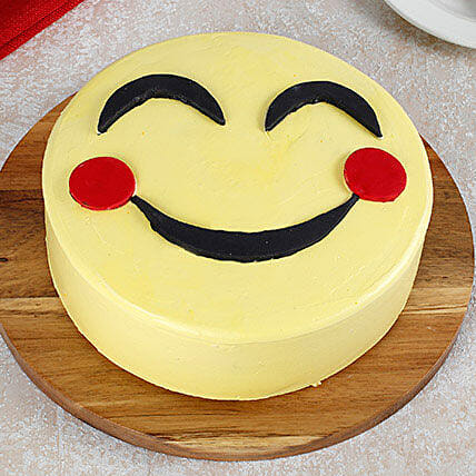 Blush Emoji Cake: Send Butterscotch Cakes