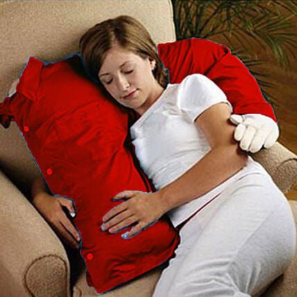 Boyfriend Arm Pillow- Red: Unusual Gifts