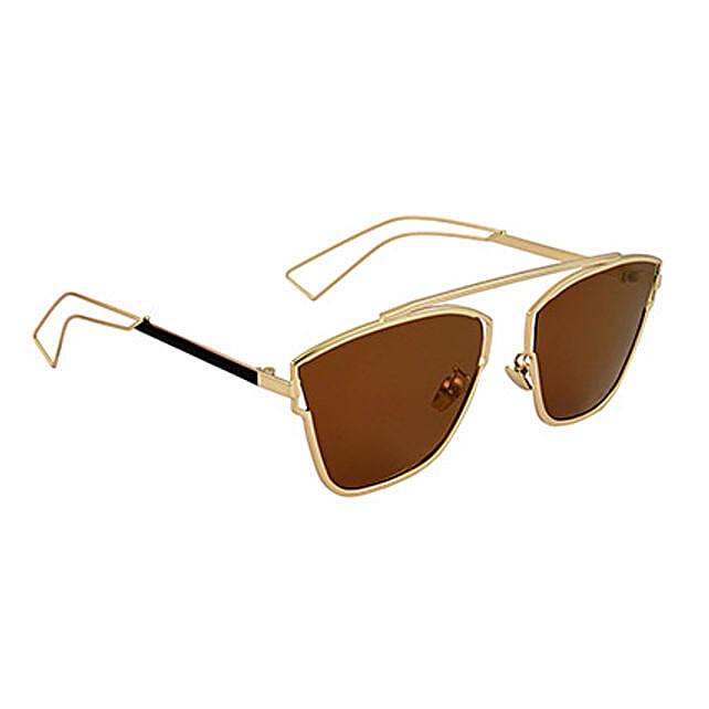 Brown Square Unisex Sunglasses: Fashion Accessories