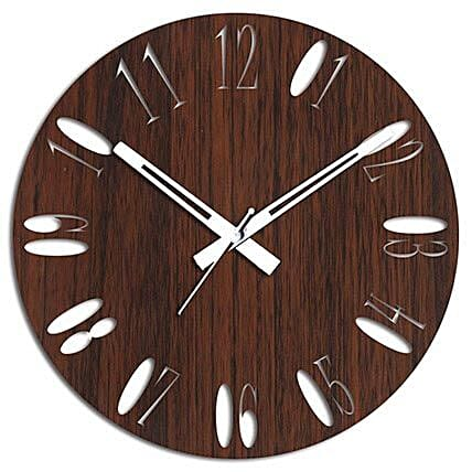 Brown Wooden Wall Clock For Home Decor: Wall-Clock Gifts