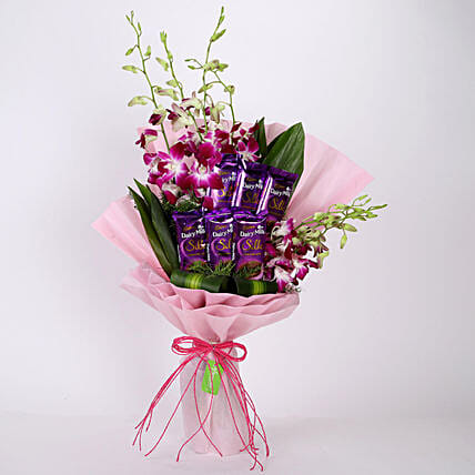 Bunch Of Orchids & Chocolates: