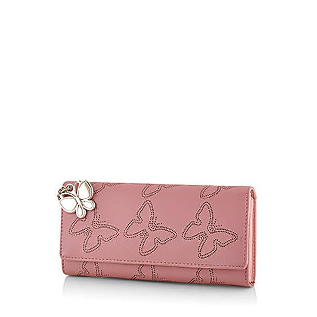 Butterflies Baby Pink Wallet: Buy Handbags