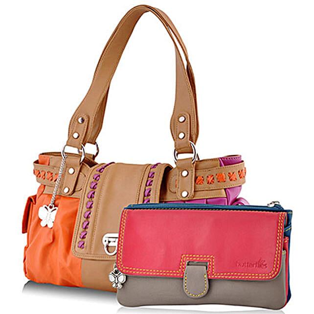 Butterflies Multicolor Handbag Combo: Buy Handbags