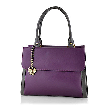 Butterflies Purple Handbag: Handbags and Wallets Gifts