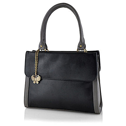 Butterflies Ravishing Black Handbag: Handbags and Wallets