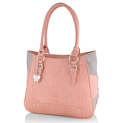 Butterflies Trendy Peach Handbag: Handbags and Wallets Gifts