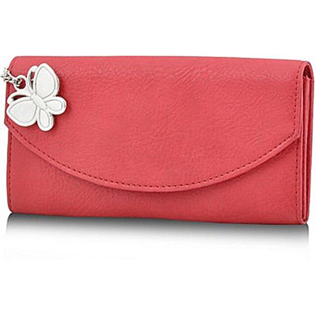 Butterflies Voguish Red Wallet: Buy Handbags
