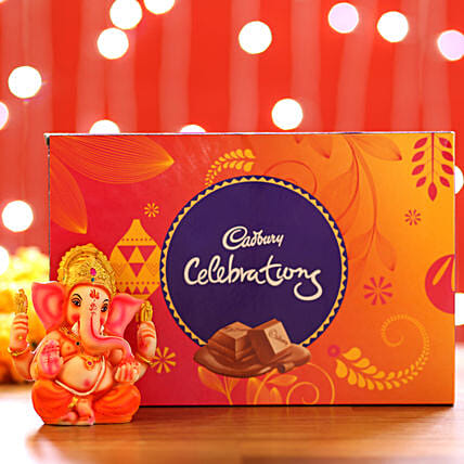 Cadbury Celebrations Box & Ganesha Idol: Cadbury Chocolates