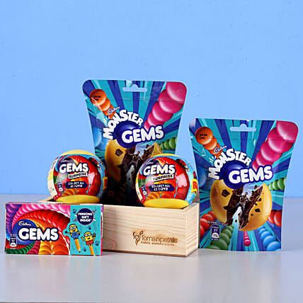 Cadbury Gems Overload: Send Gift Baskets
