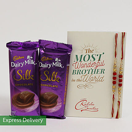 Cadbury Silk Rakhi Combo For Bro: Raksha Bandhan Chocolates