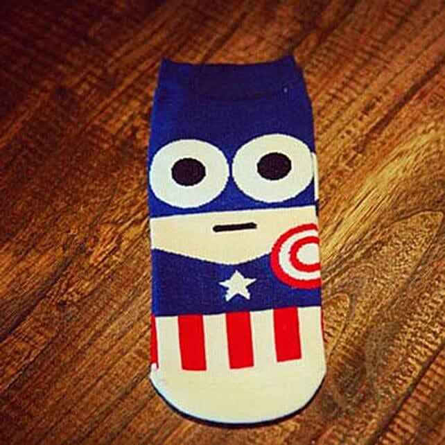 Captain America Ankle Length Socks: Funny Gifts