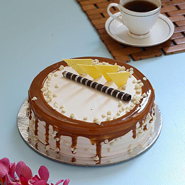 Caramel Cream Cake: Buy Eggless Cakes
