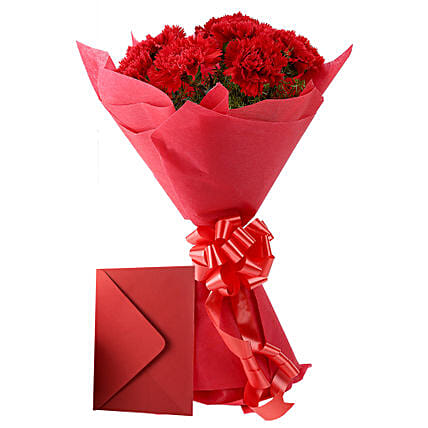 Carnations N Greeting Card: Carnations