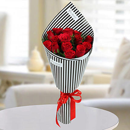 Charming Red Roses Bunch: Designer Bouquet