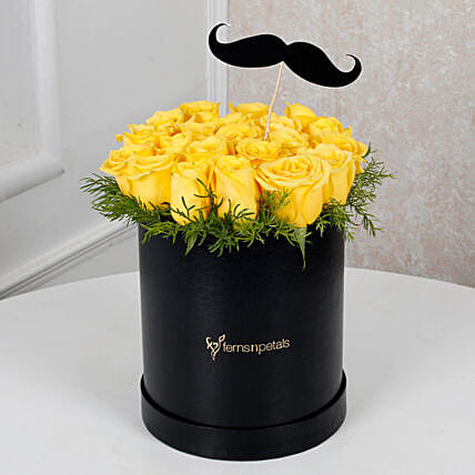 Cheerful Yellow Roses For Him: