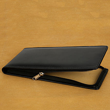 Cheque Book Cover: Send Leather Gifts
