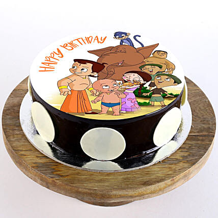 Chhota Bheem Special Chocolate Photo Cake: