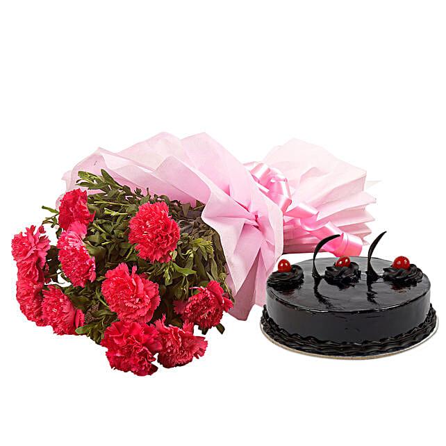 Chocolate Cake N Flowers Kolkata Gifts