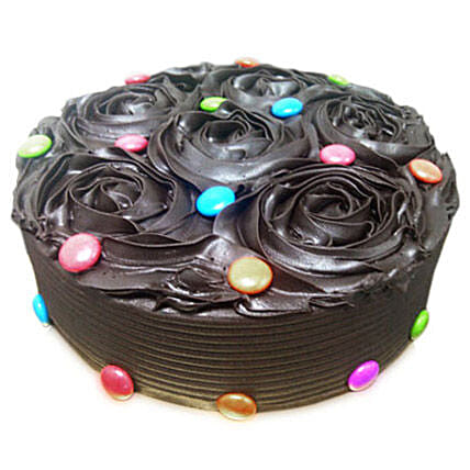 Chocolate Flower Cake: Send Designer Cakes