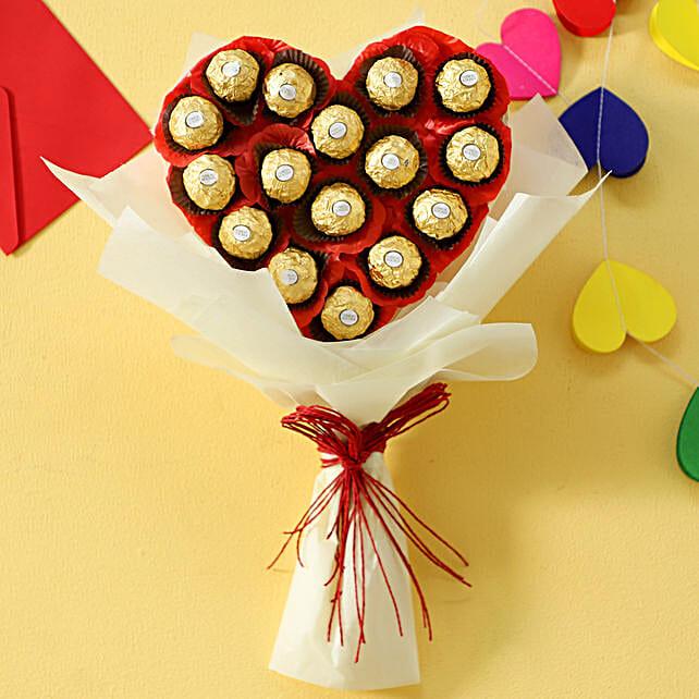 Chocolate Heart Bouquet: Return Gifts
