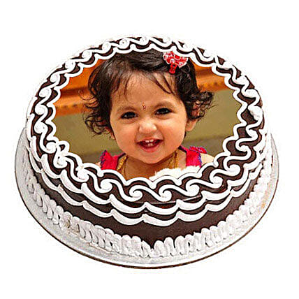Chocolate Photo Cake: Photo Cakes to Dehradun
