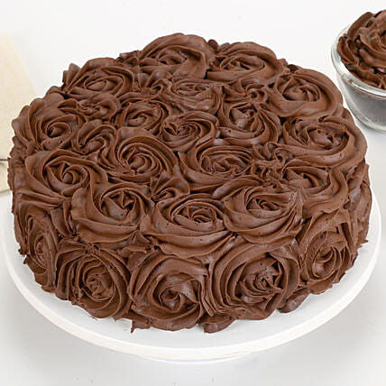 Chocolaty Rose Cake: Designer cakes for Mothers Day