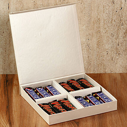 Chocolaty White Gift Box: Gifts to India