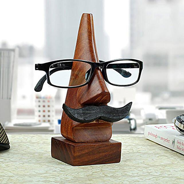 Classic Wooden Eye Glass Holder Gift For Boyfriend